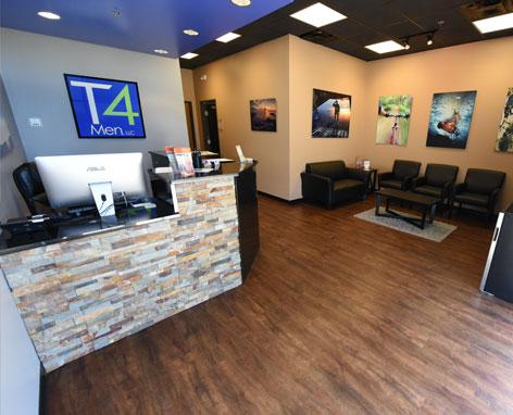 The T4Men reception area